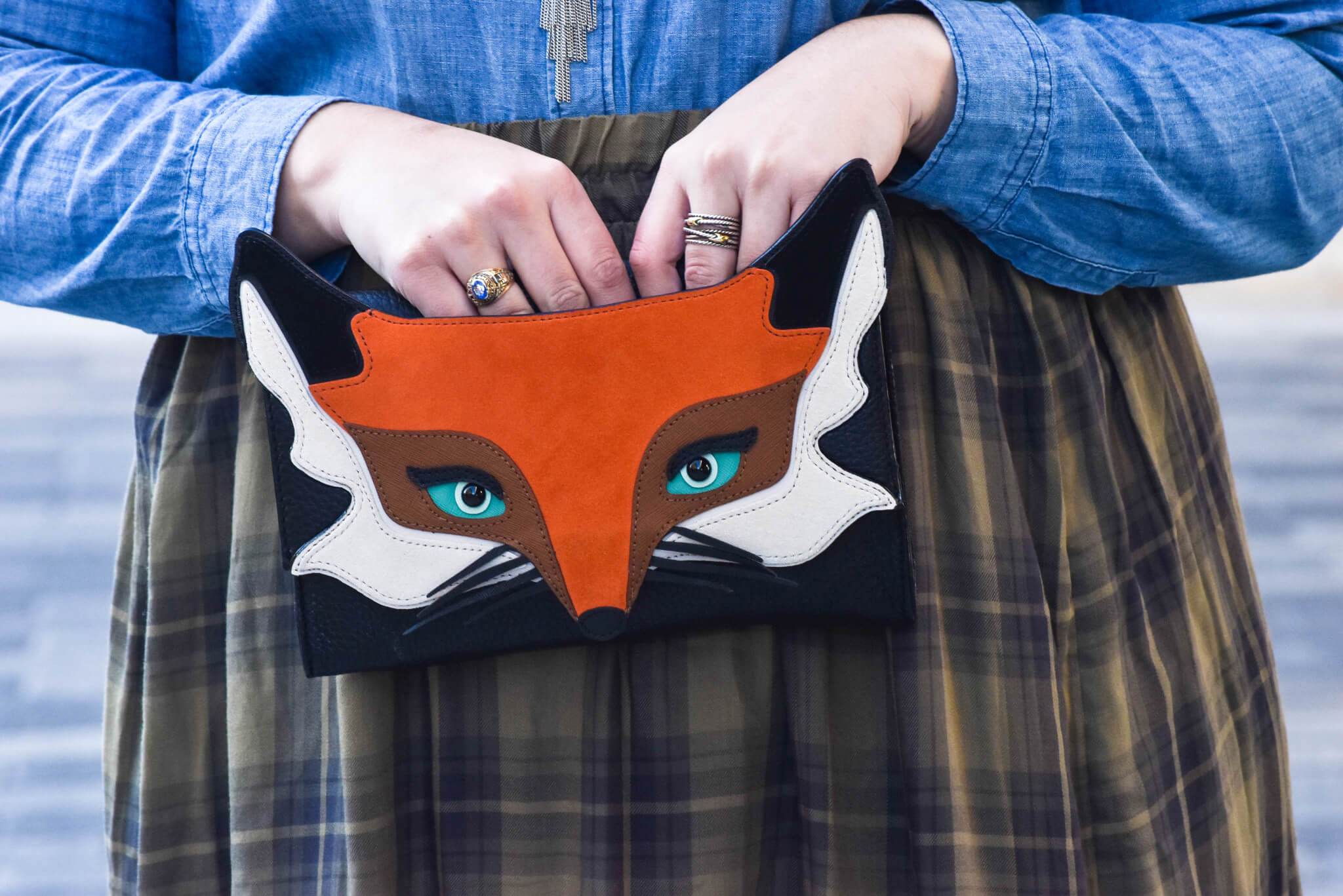 Transitioning to Spring | Something Gold, Something Blue Blog | Kate Spade Fox Clucth from Fall 2015 collection