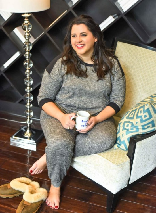 Finding plus size pajamas can be difficult, luckily Kohl's offers a ton of affordable and cute PJ sets perfect for your upcoming holiday gatherings. #plussize #sleep #pjs - Getting a Better Night's Sleep with Kohl's Plus Size Pajamas by popular Houston fashion blogger Something Gold, Something Blue