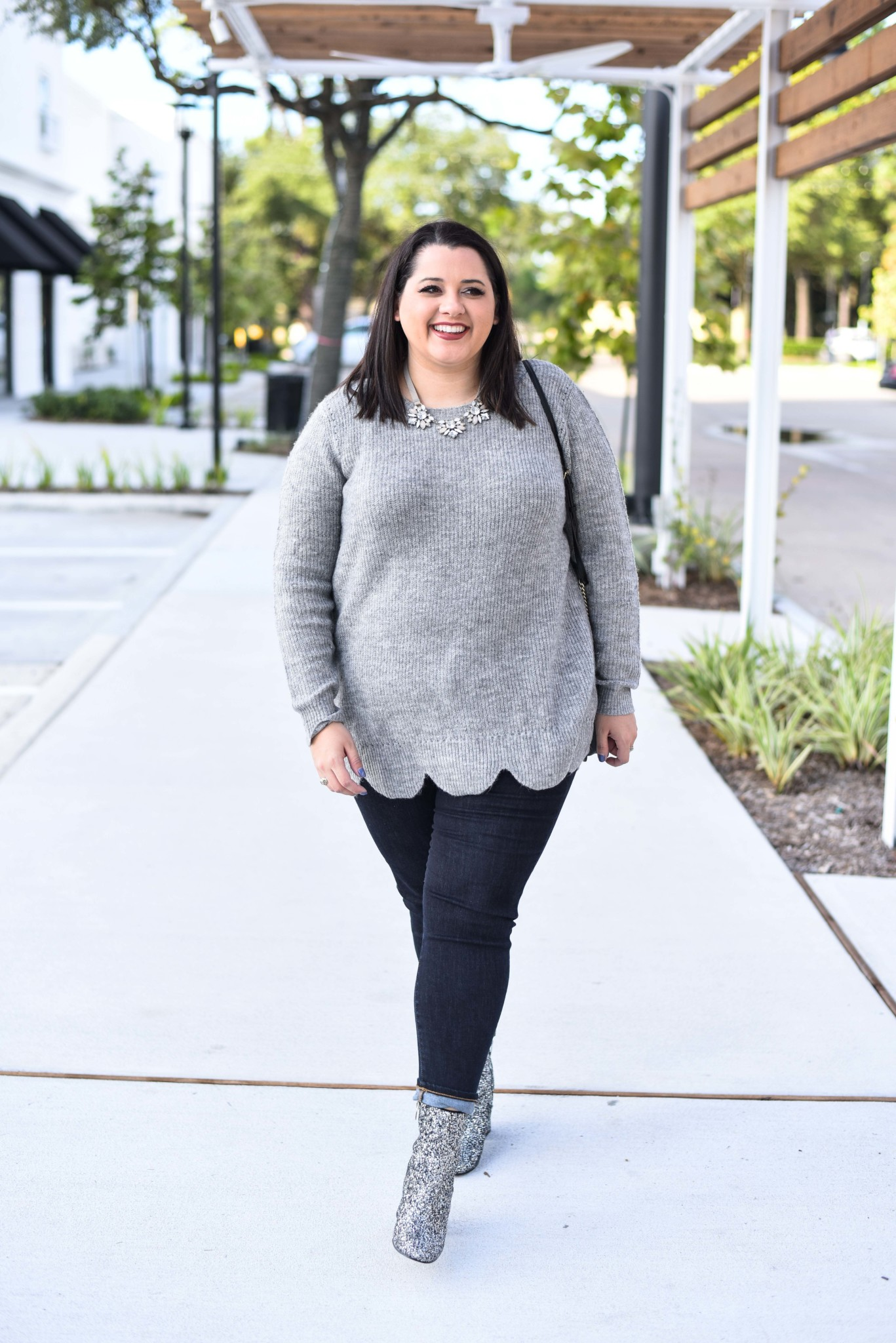 Scallop Hem Sweater from Lane Bryant - currently 40% off during Cyber Week