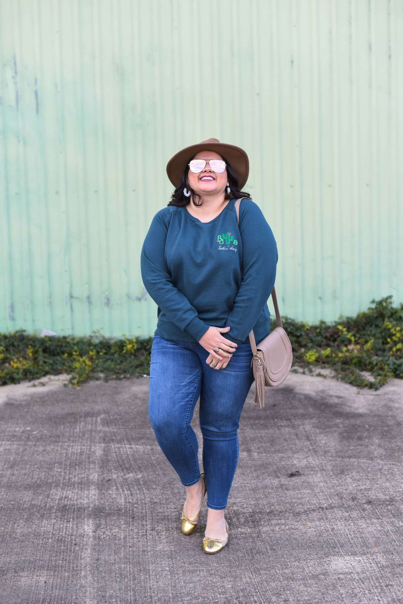 The Ori Embroidered Sweatshirt is one of the comfiest items I have ever worn. And the embroidery adds an extra hint of glam for a day out.