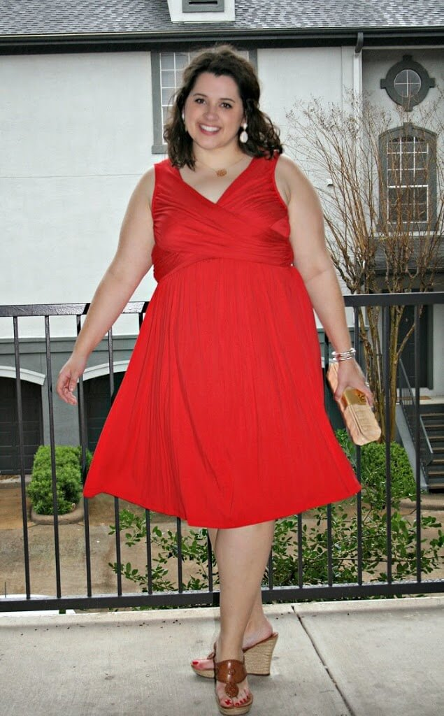 Anthropologie Red Dress for a Wedding