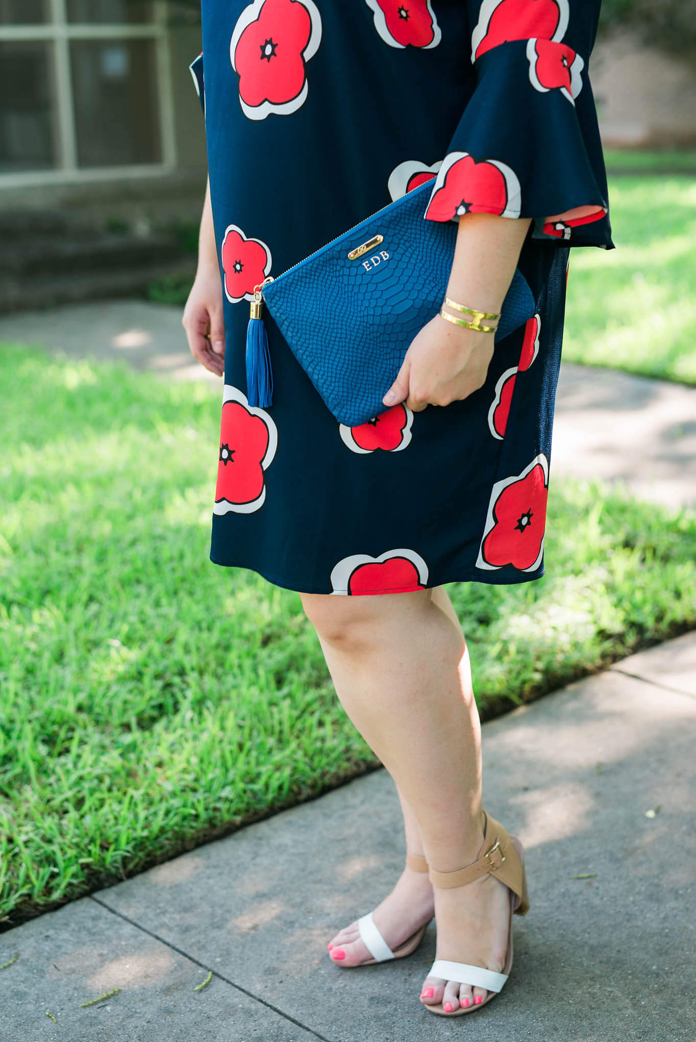 Work to Play | Something Gold, Something Blue Curvy Plus Size Fashion Blog | What to wear to work, business casual to happy hour attire, floral dress, Eloquii