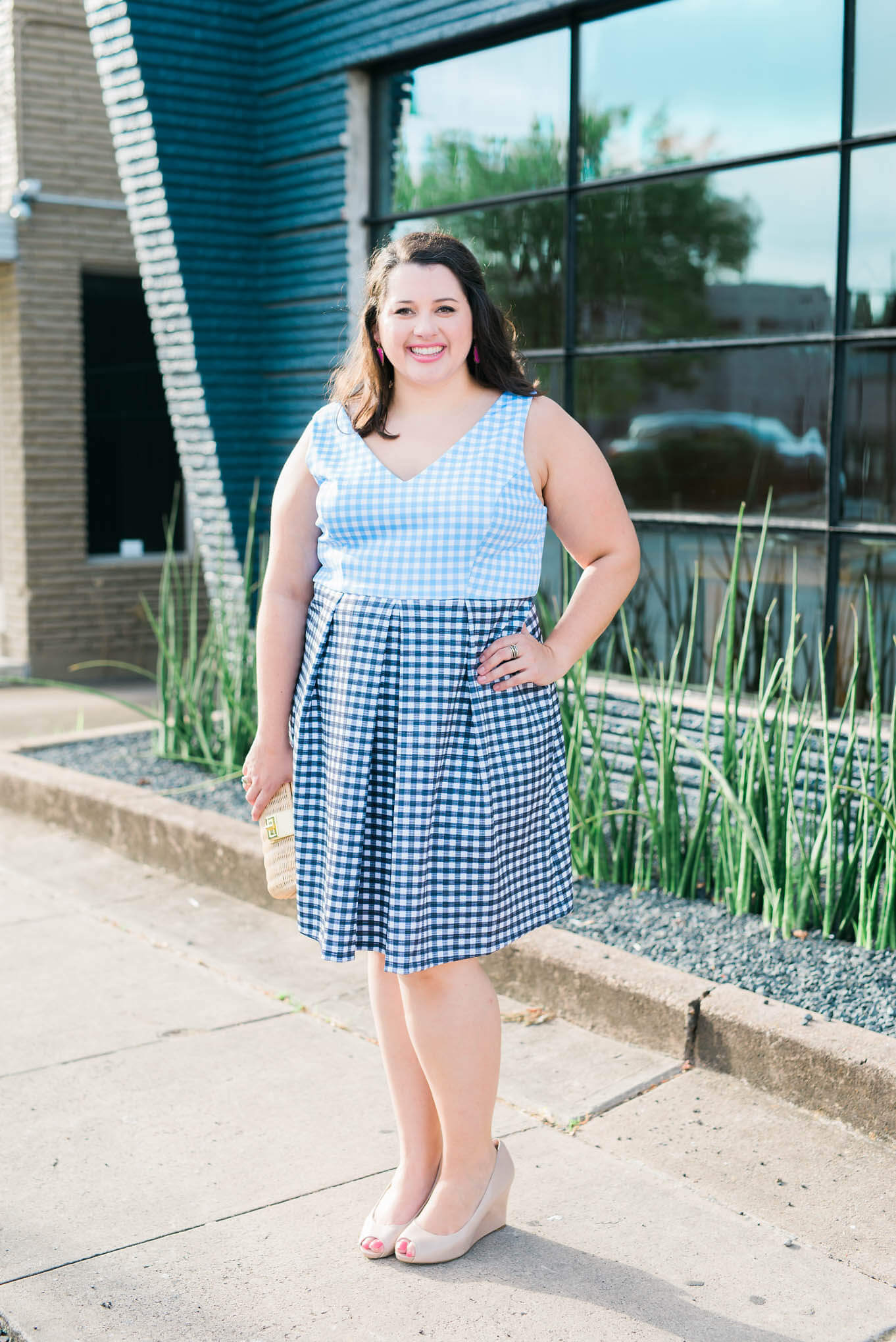 Wedding season is starting to wind down, but I have another wedding attire post to share with you for those cooler weather fall weddings. - Something Gold, Something Blue a curvy style blog by Emily Bastedo