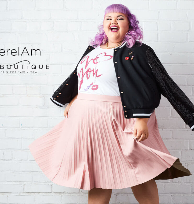 Today I'm sharing the first video in the Ashley Nell Tipton docuseries with JCPenney which goes behind the scenes as she prepares her line for the JCPenney Boutique+ line. | Something Gold, Something Blue curvy fashion blog by Emily Bastedo
