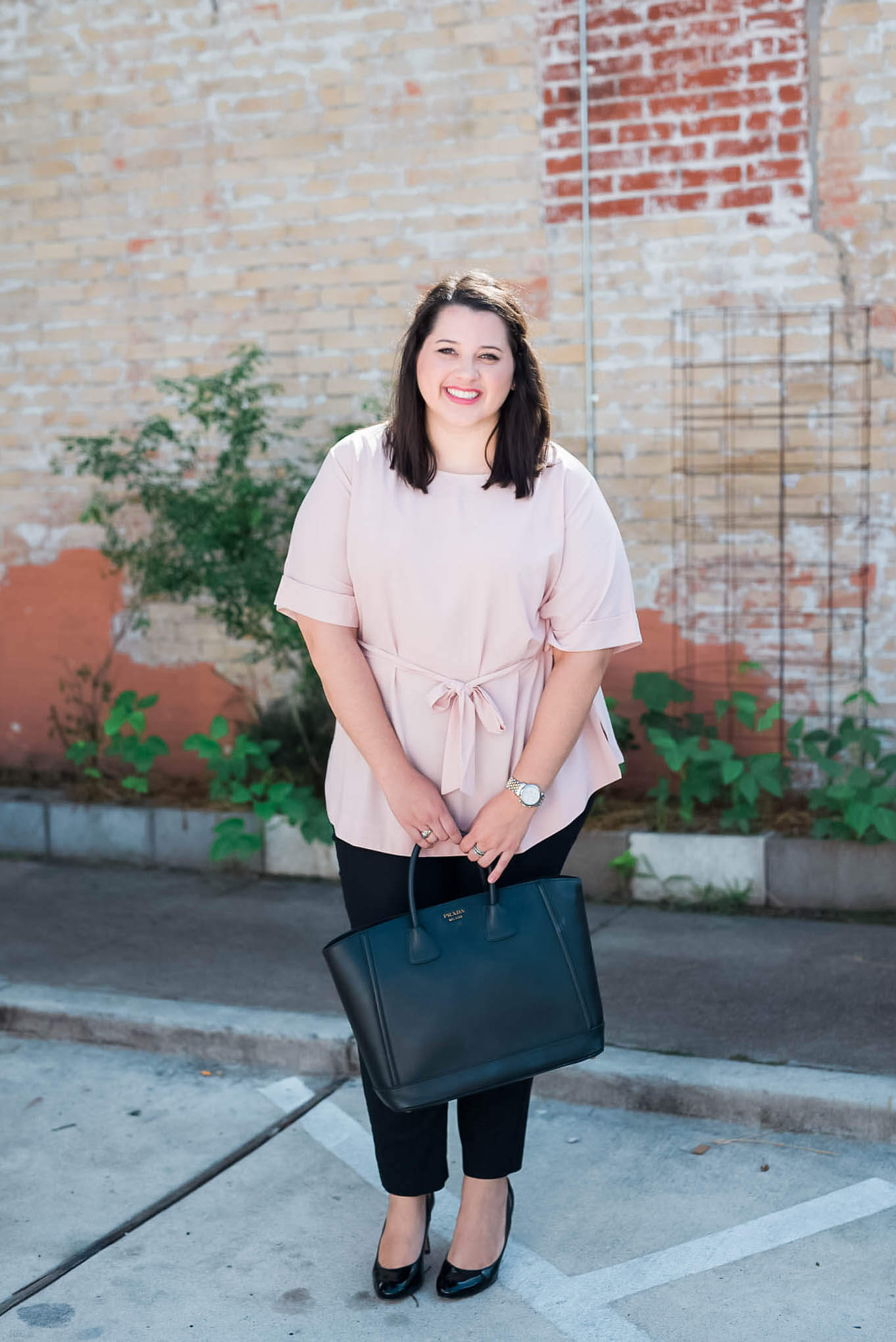 Work, Work, Work - The perfect business casual work attire to be a #girlboss | Something Gold, Something Blue a curvy fashion blog - About Emily, the woman behind popular Houston Curvy Fashion Blog, Something Gold, Something Blue