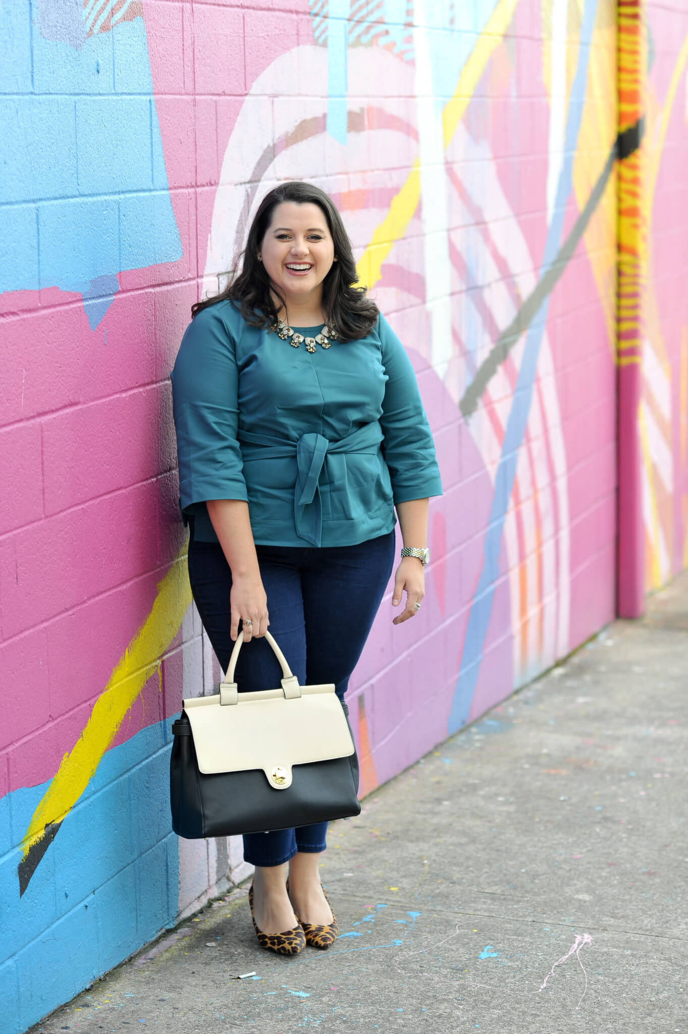 How to wear jeans at work - My company recently went to a flexible dress policy where we can wear jeans to the office. I am challenging myself to style different work outfits that are both appropriate for business casual office and ready for happy hour.