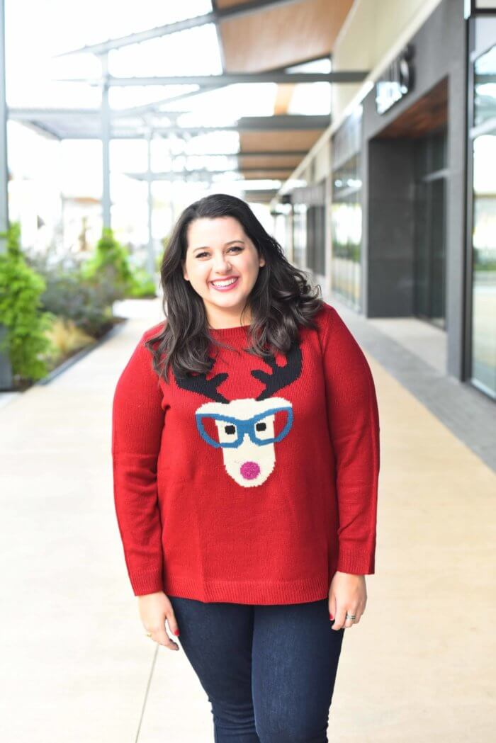 Celebrating Christmas with my family and friends in this comfy reindeer sweater. Happy Holidays, friends.