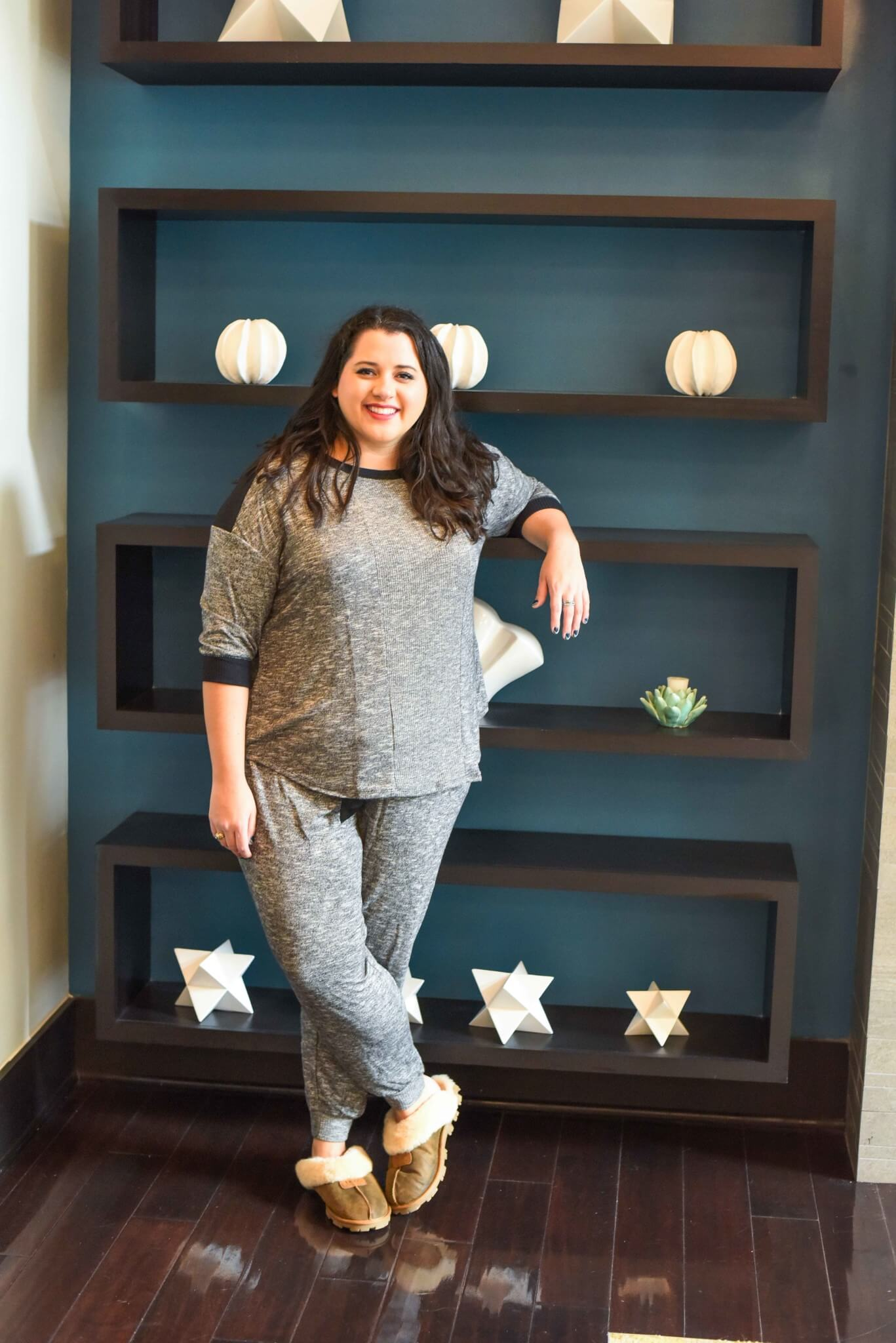 AD: Finding plus size pajamas can be difficult, luckily @Kohls offers a ton of affordable and cute PJ sets perfect for your upcoming holiday gatherings. #Kohls #KohlsSleep - Getting a Better Night's Sleep with Kohl's Plus Size Pajamas by popular Houston fashion blogger Something Gold, Something Blue
