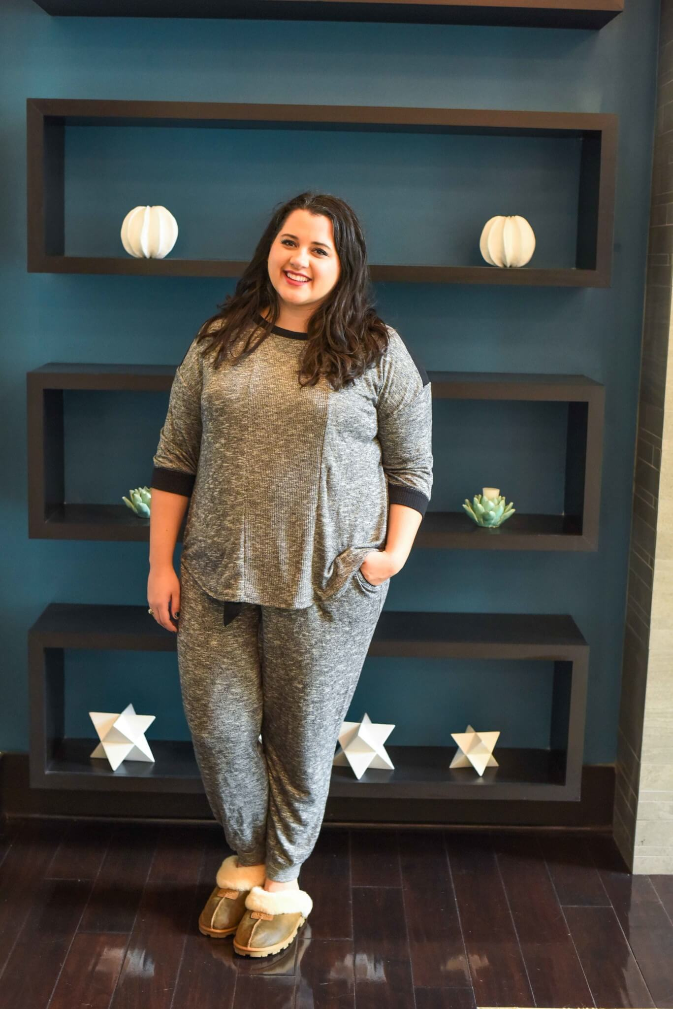 The Simply Vera Vera Wang pajamas from Kohl's have quickly become one of my go-to lounge and sleepwear sets. Not only is it comfortable, but it also won't break the bank. #plussizestyle #sleepwear - Getting a Better Night's Sleep with Kohl's Plus Size Pajamas by popular Houston fashion blogger Something Gold, Something Blue