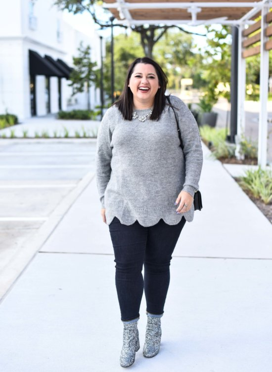 Scallop Hem Sweater from Lane Bryant