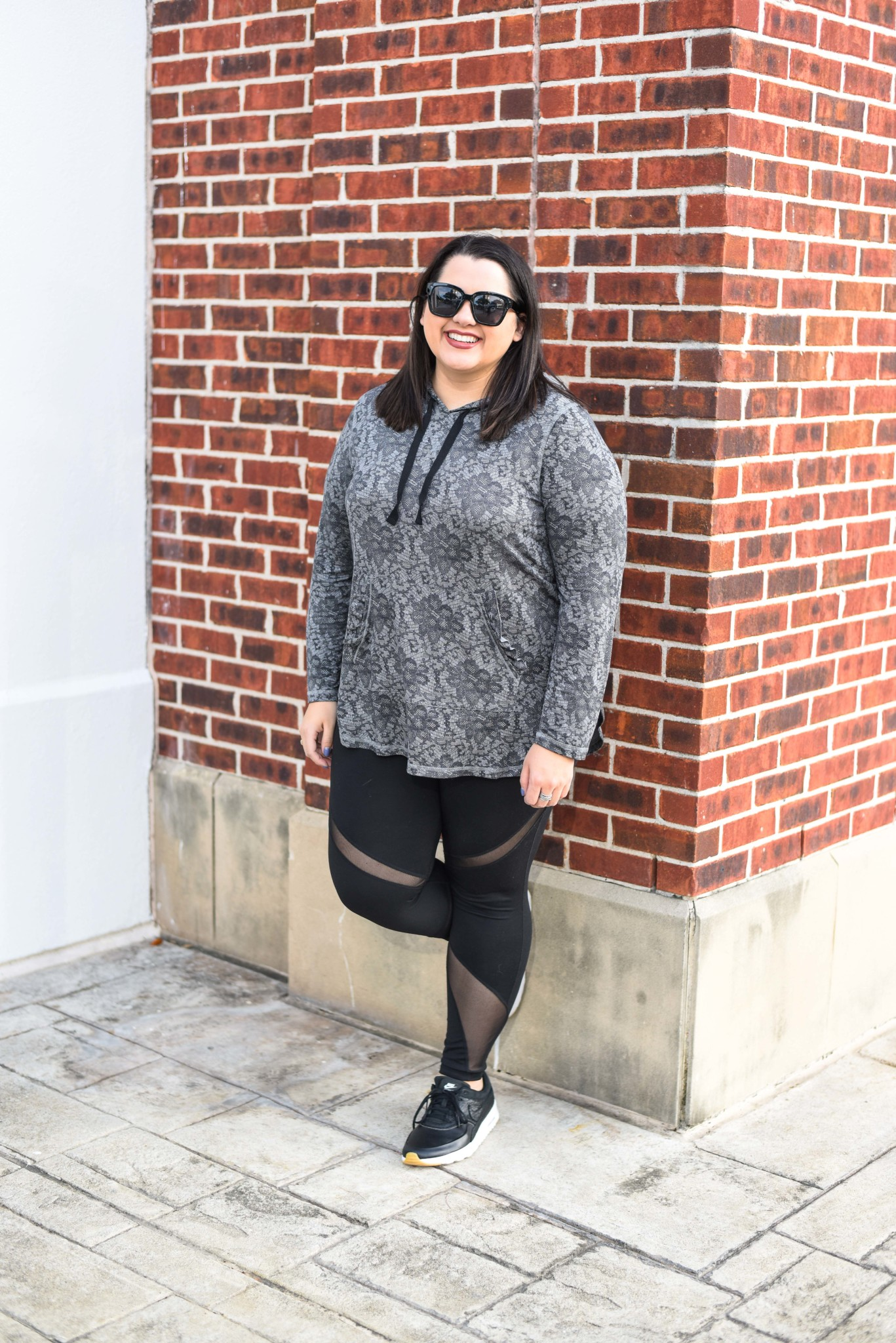 LIVI Activewear Hoodie with Ruffle Detail on Sale during Lane Bryant's Cyber Week Sale