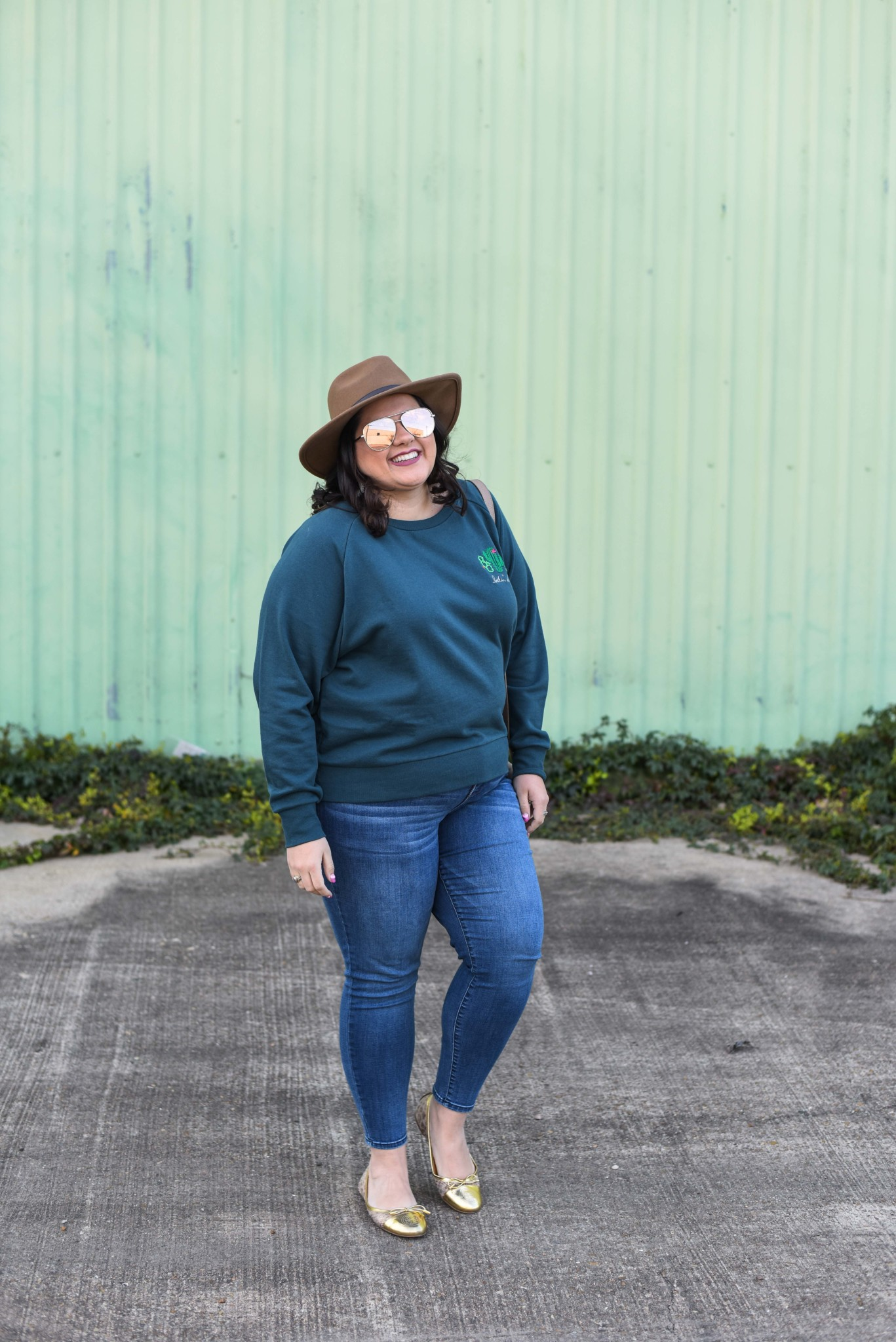 Running errands doesn't mean I have to dress boring. Today I'm styling a plus size embroidered sweatshirt two ways.