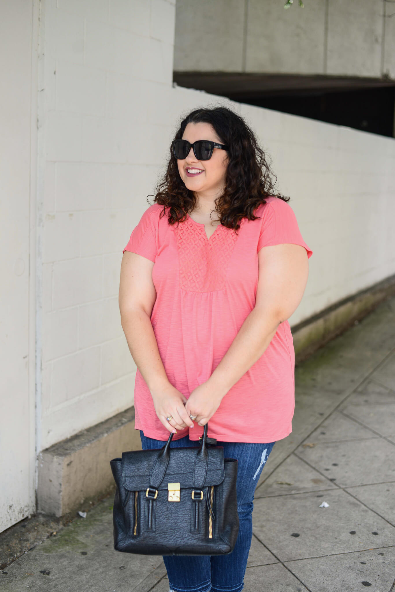 Exploring my own city is a lot of fun and doing so in bright colors is even better. This cotton short sleeve top from Just My Size is perfect for the Houston summers