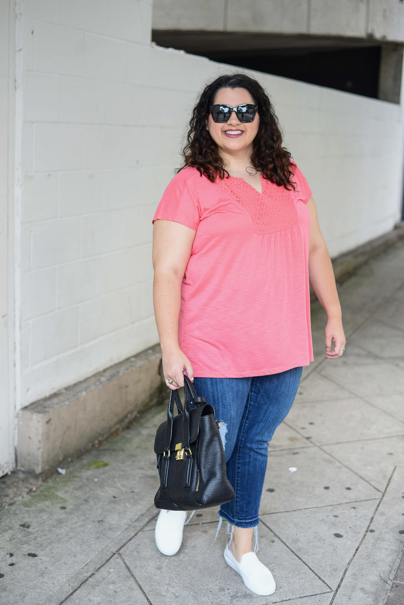 A bright cotton top from the Modern Curvy brand, Just My Size, if just what I need for the warm summers