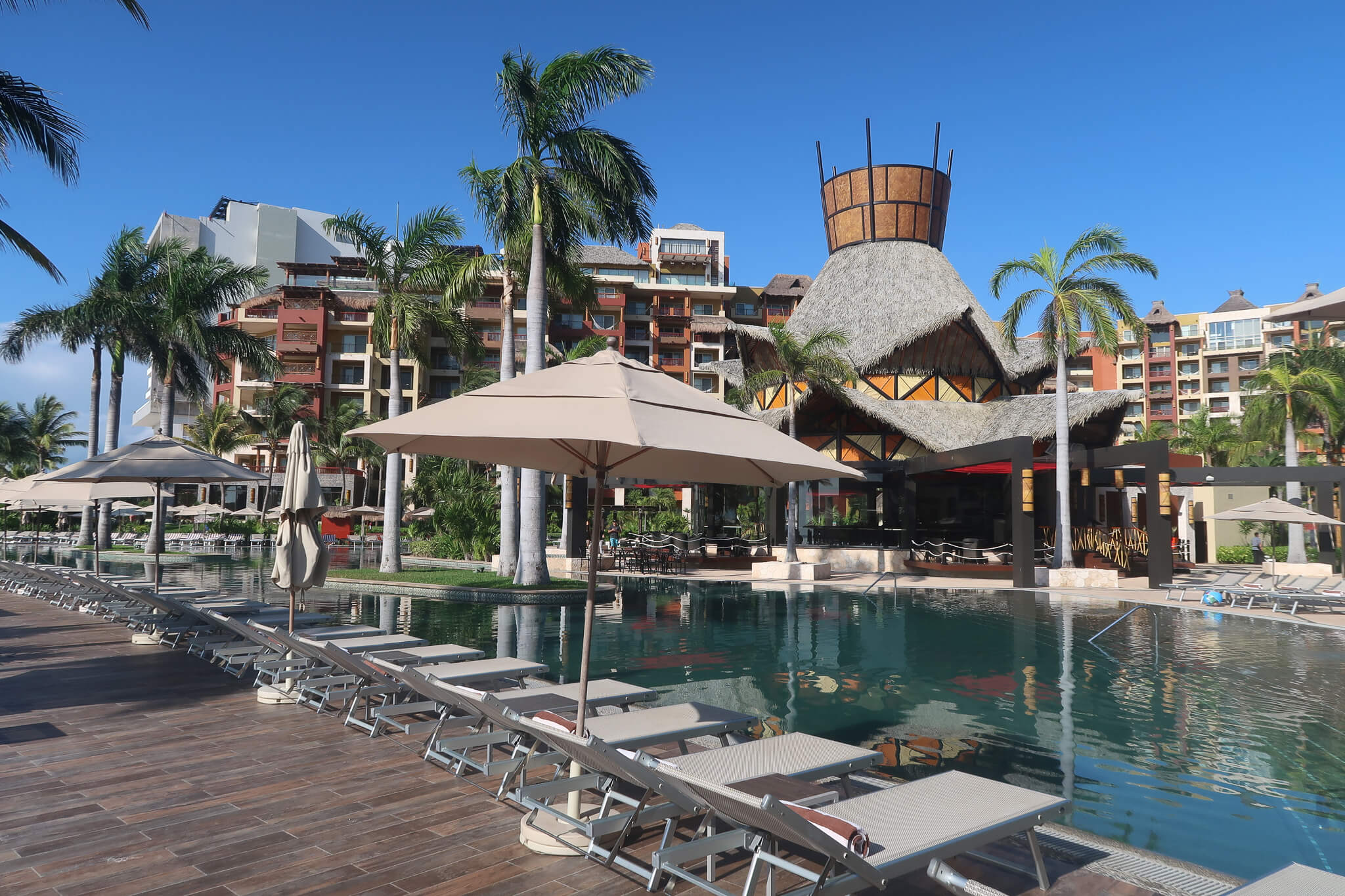 The main pool at the Villa del Palmar Cancun is where we spent most of our time while there.