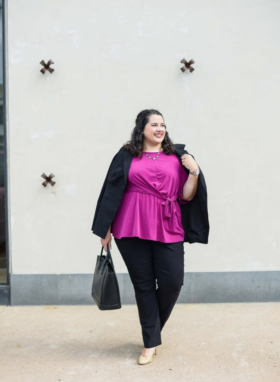 Figuring out what to wear for a boardroom meeting has never been easier with the new Lane Bryant workwear section dedicated to all of the outfits you need for any work environment.