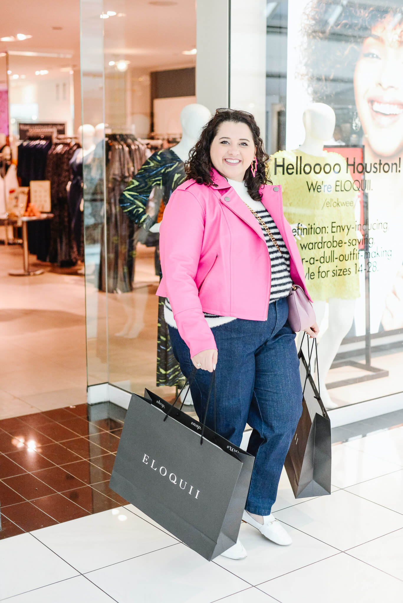 Shopping at the new Eloquii store in Houston has been so much fun. I love being able to try on these items before bringing them home.