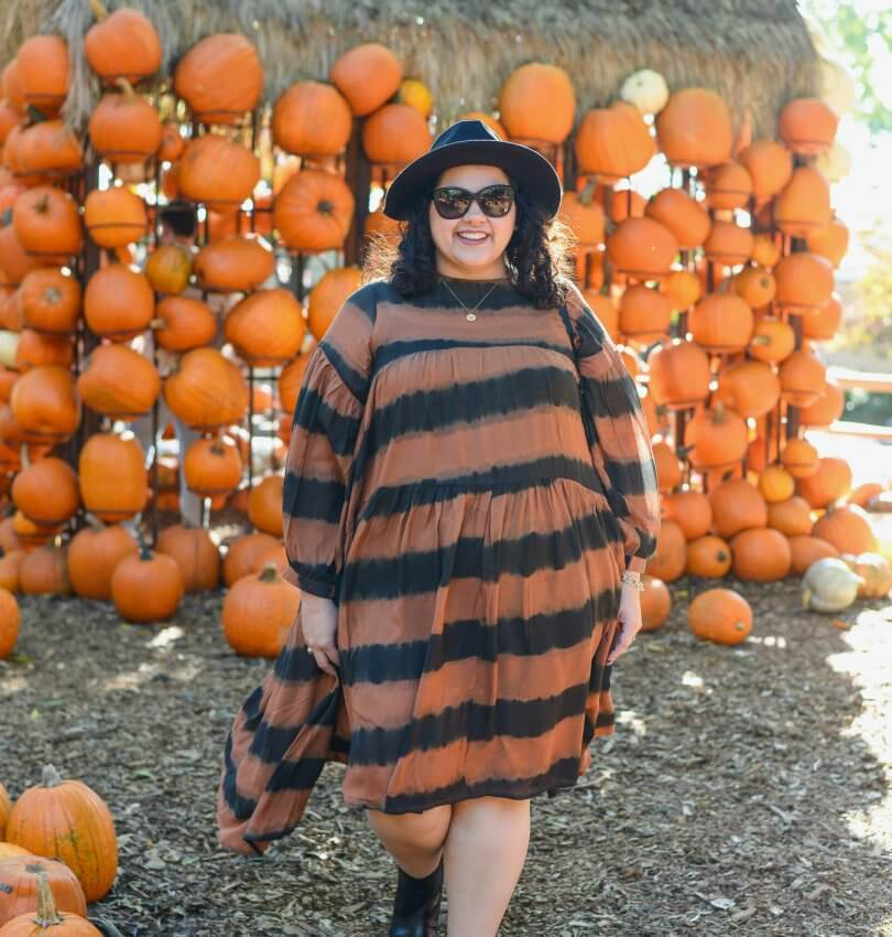 Anthropologie's plus size collection, A+, has been nothing short of it's name and this orange and black tunic does not disappoint.