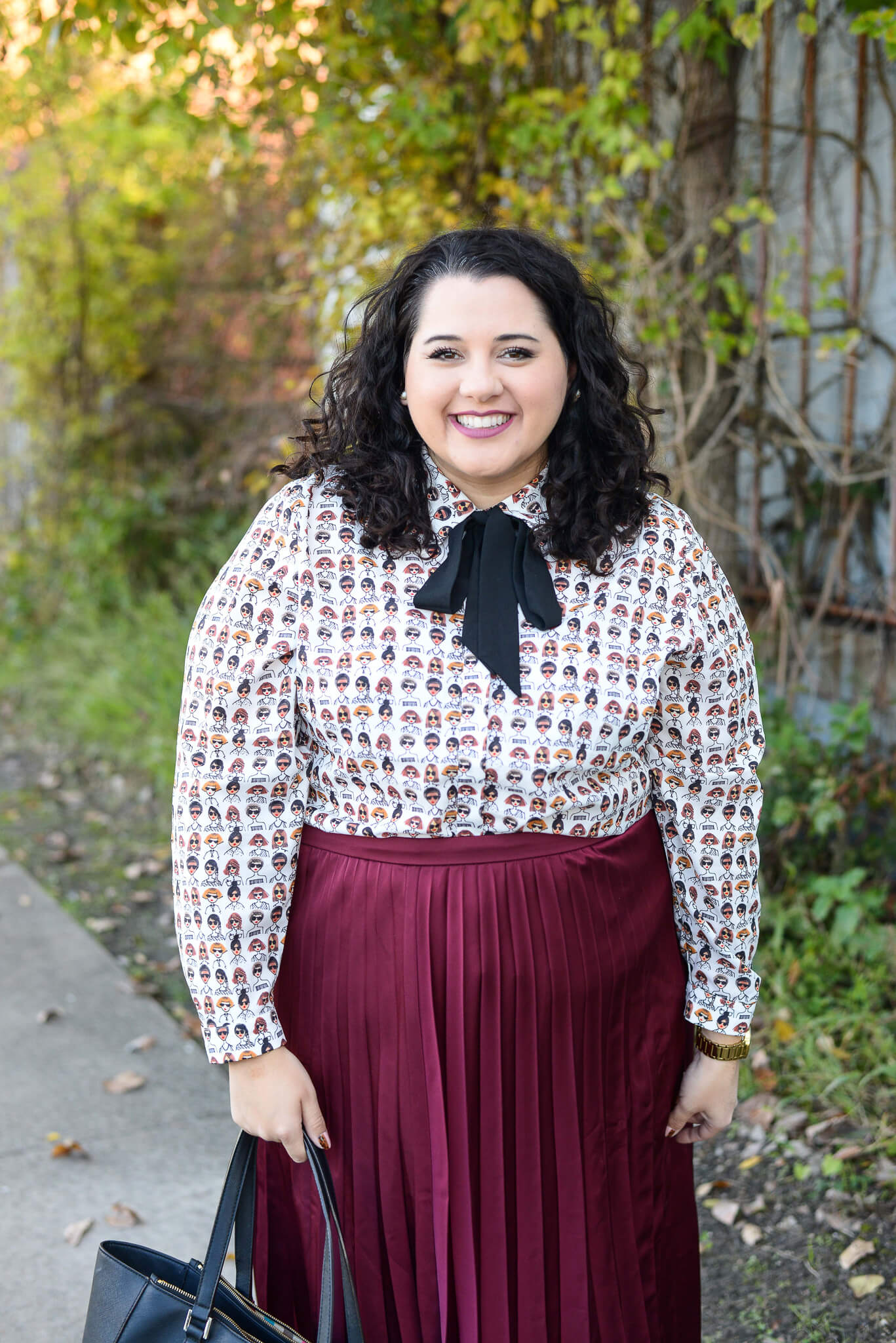 All smiles because I styled this amazing Eloquii top multiple ways
