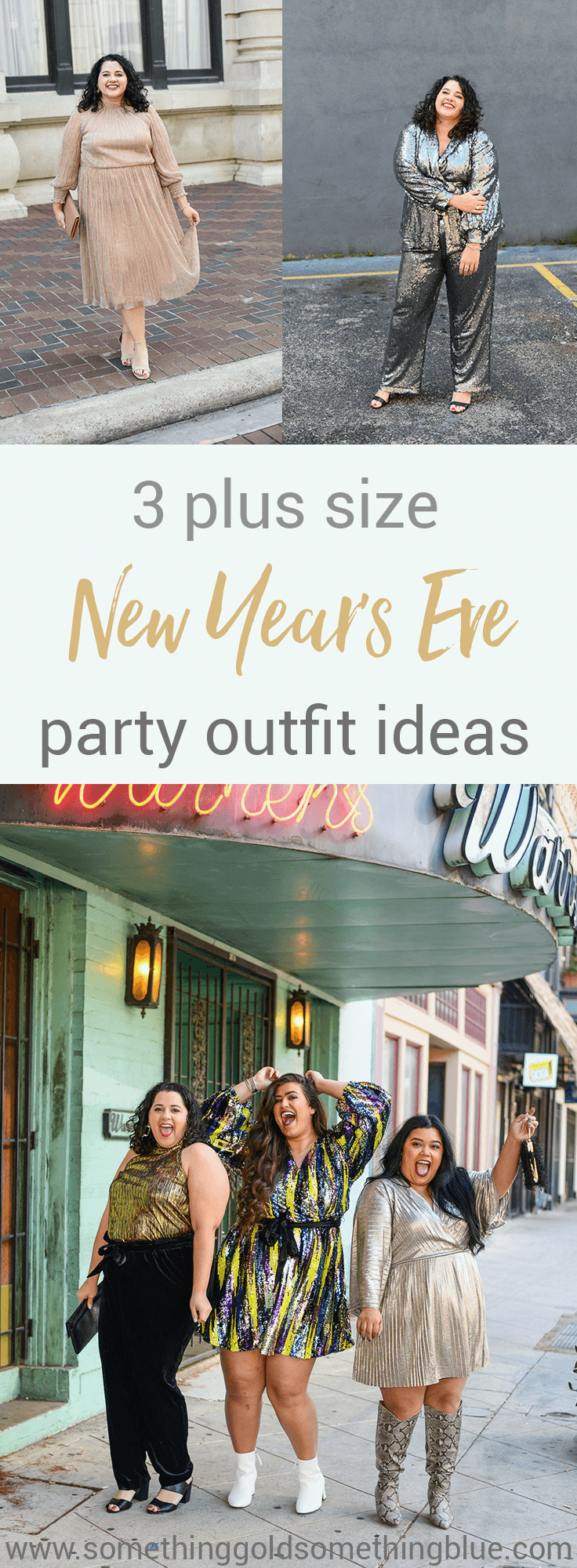 3 Plus Size NYE party outfits