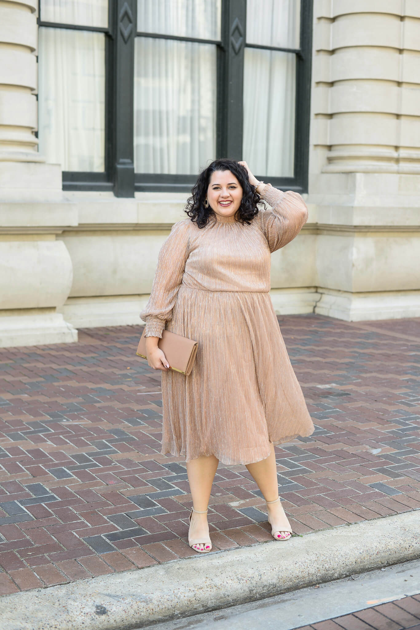 Eloquii is always creating the best plus size dresses and this rose gold one is perfect for any party