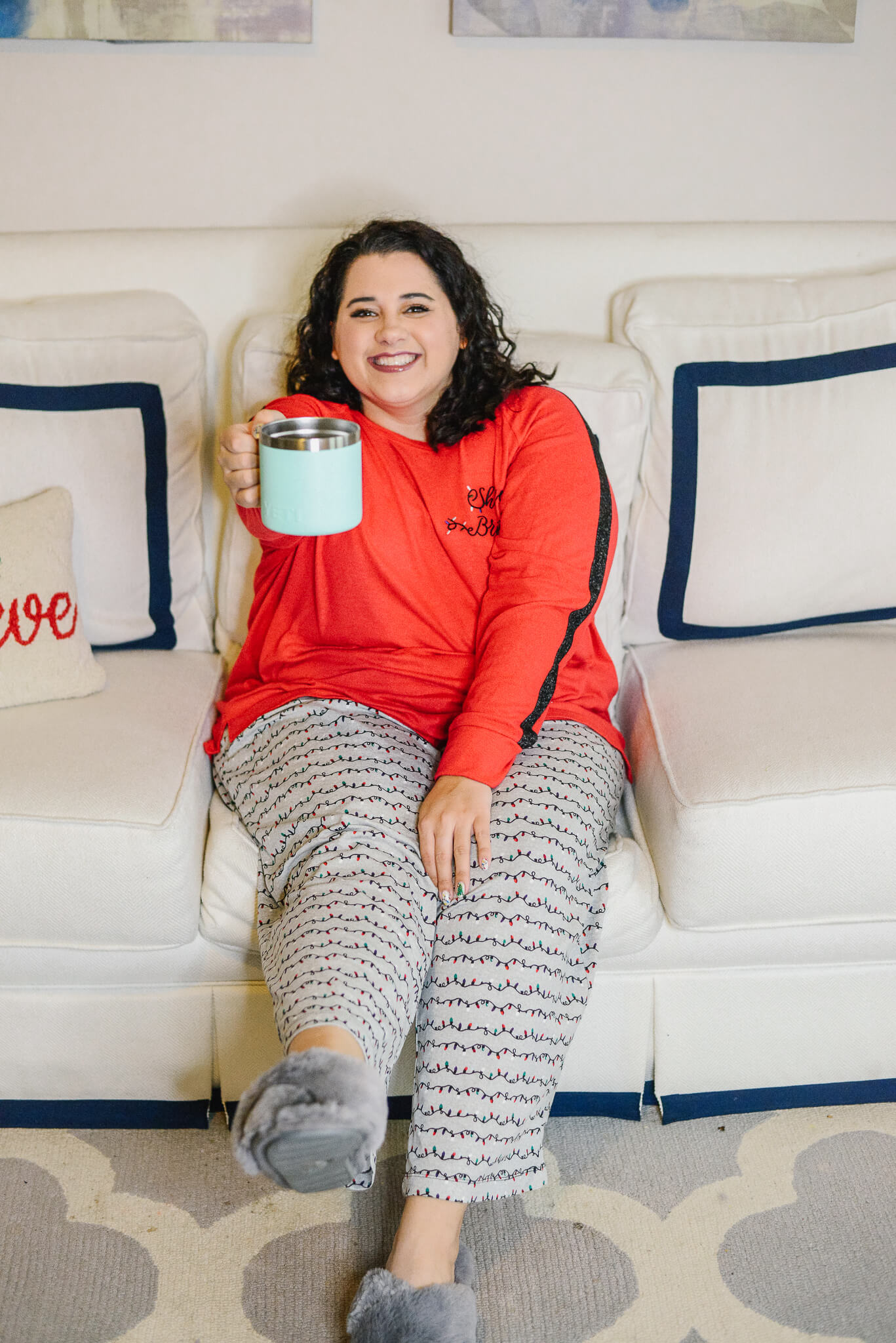 Cheers to finding the best plus size Christmas PJs