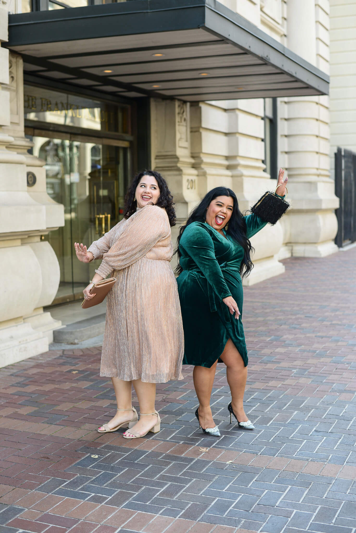 Bring on the champagne (plus size dress) for New Year's Eve
