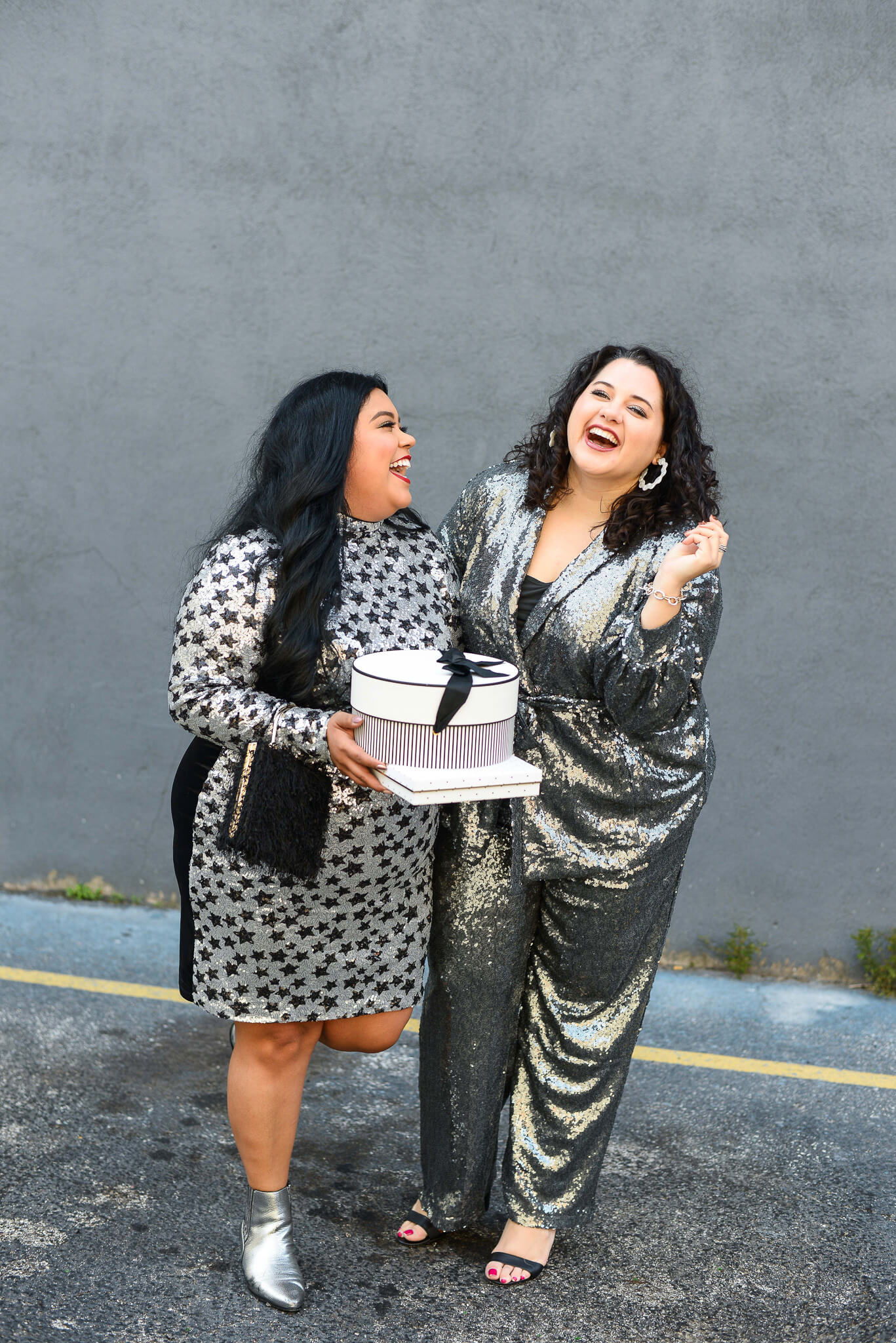 Laughing into the New Year with the perfect plus size outfit