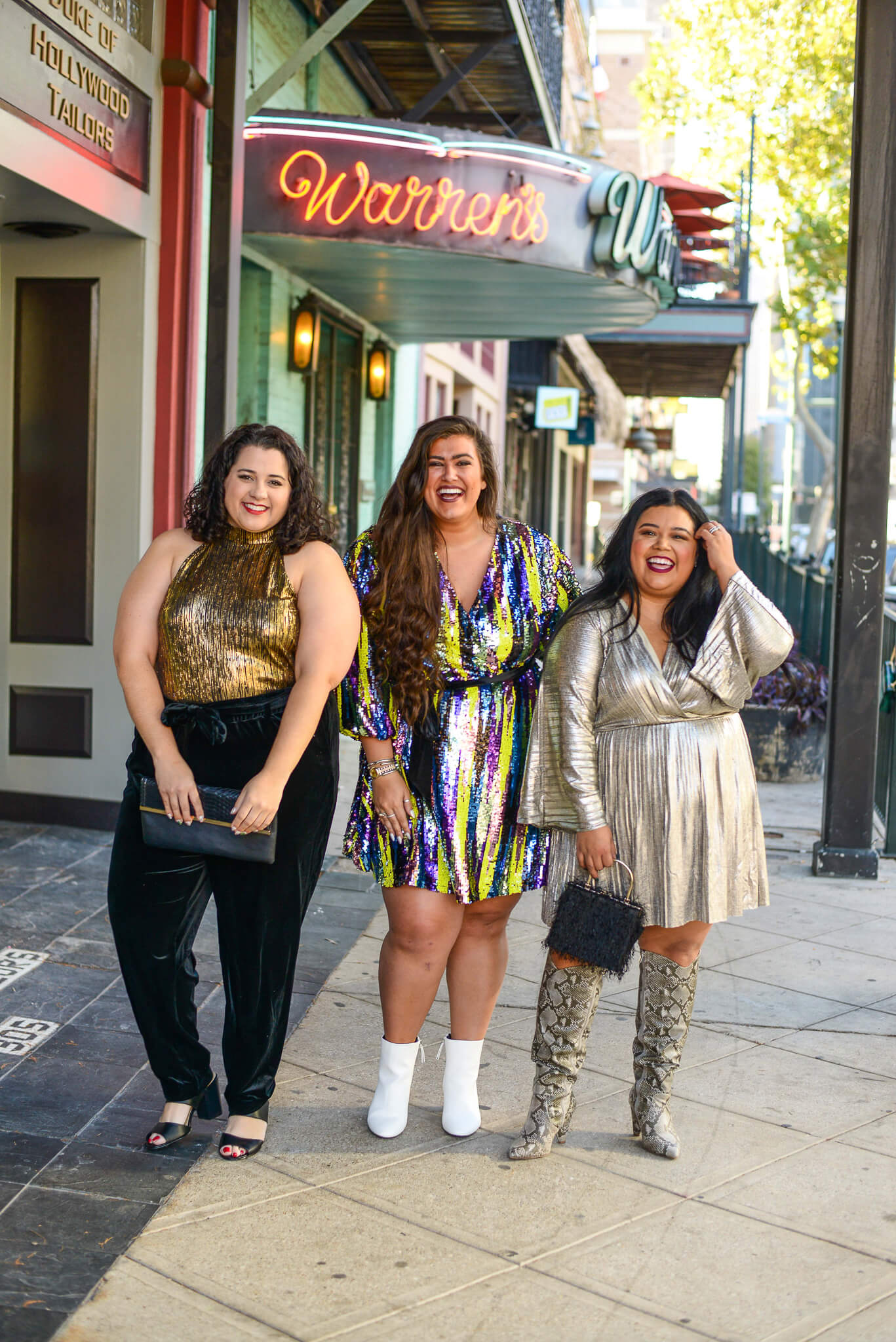 Plus size gals sharing 3 ways to style a New Year's Eve outfit