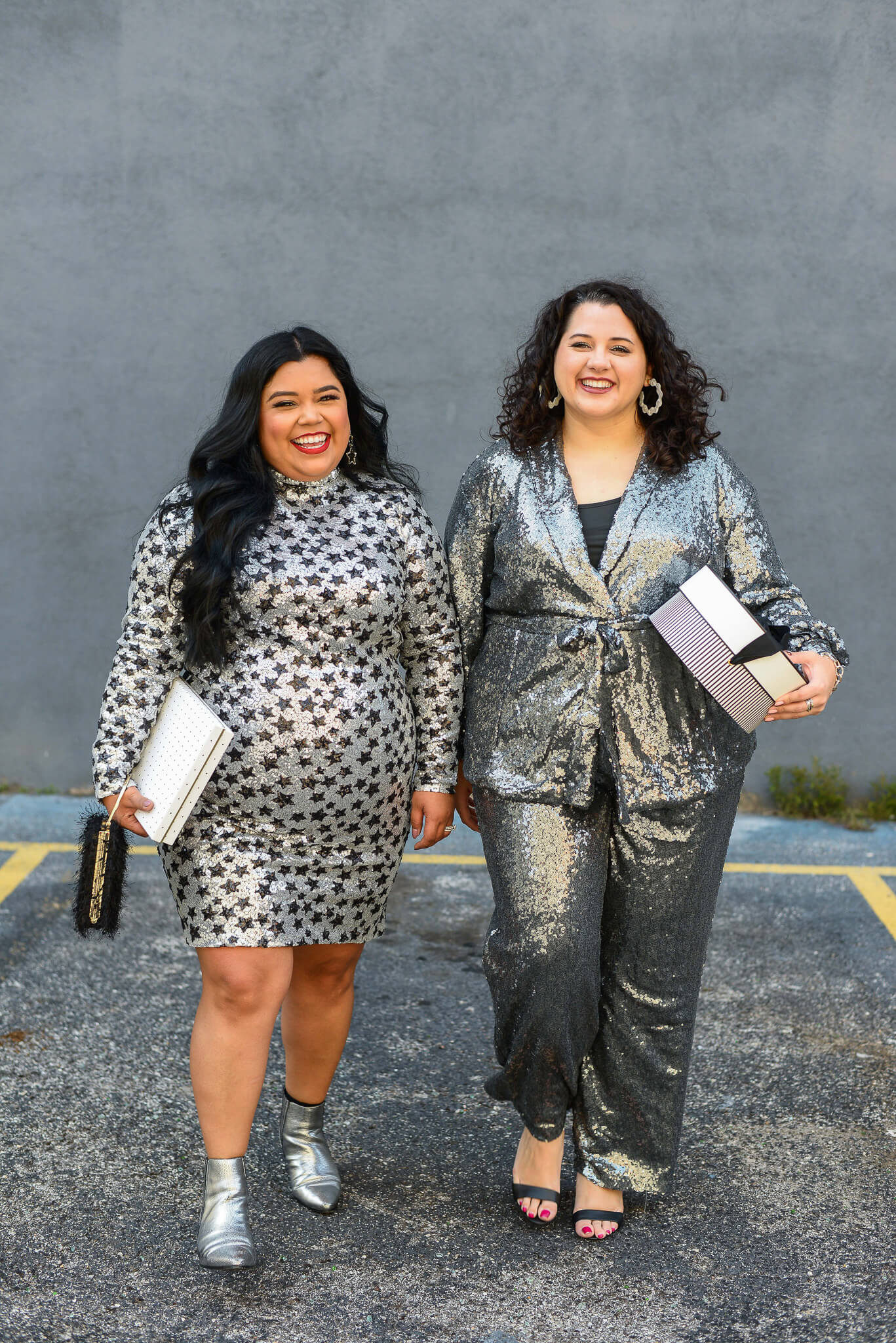Plus size sequin blazer