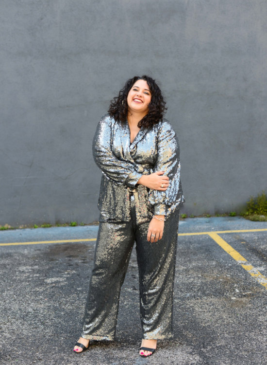 I've always loved picking out the perfect New Years Eve outfit and this plus size sequin suit is perfect to ring in the new decade!