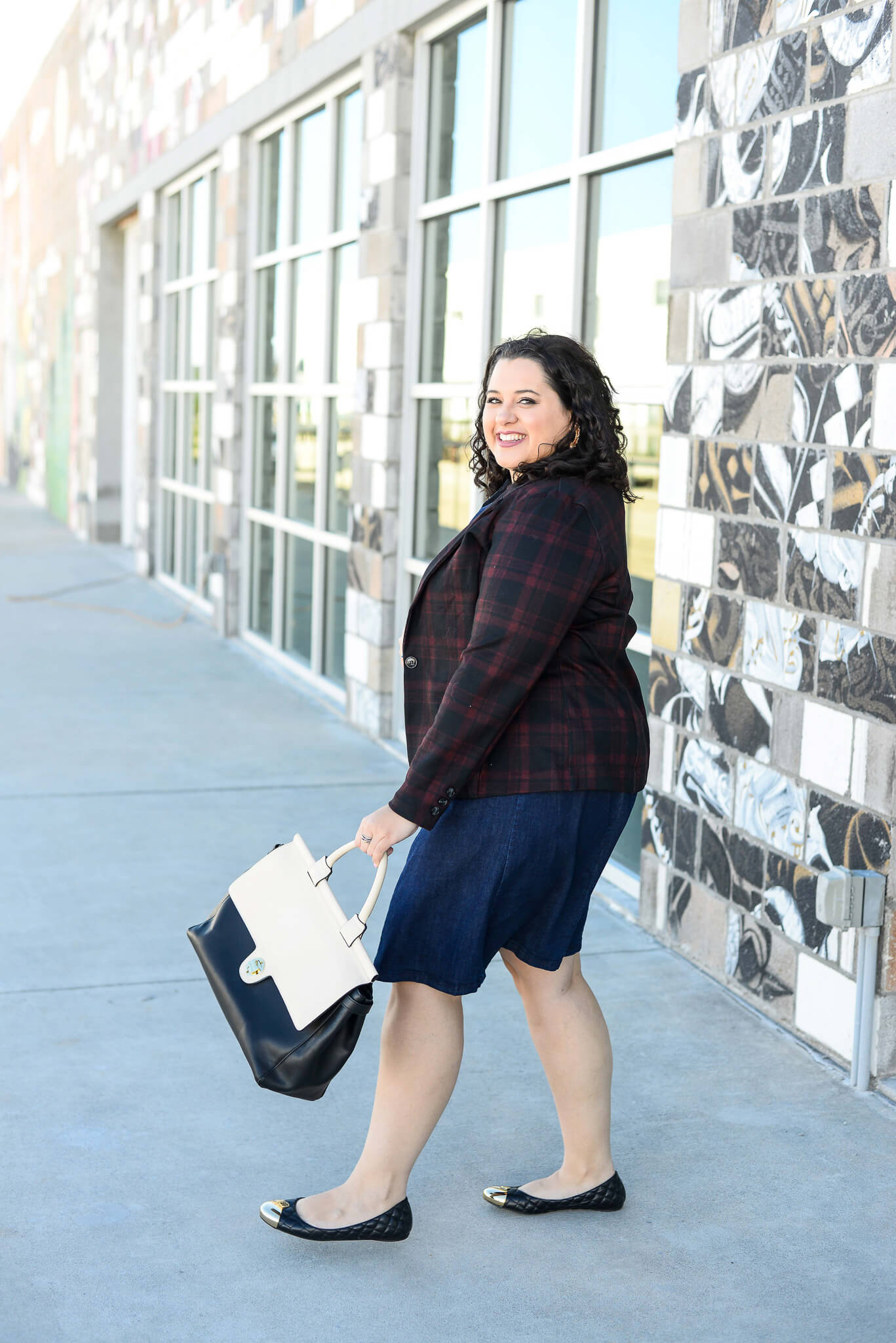 Styling a denim dress two ways