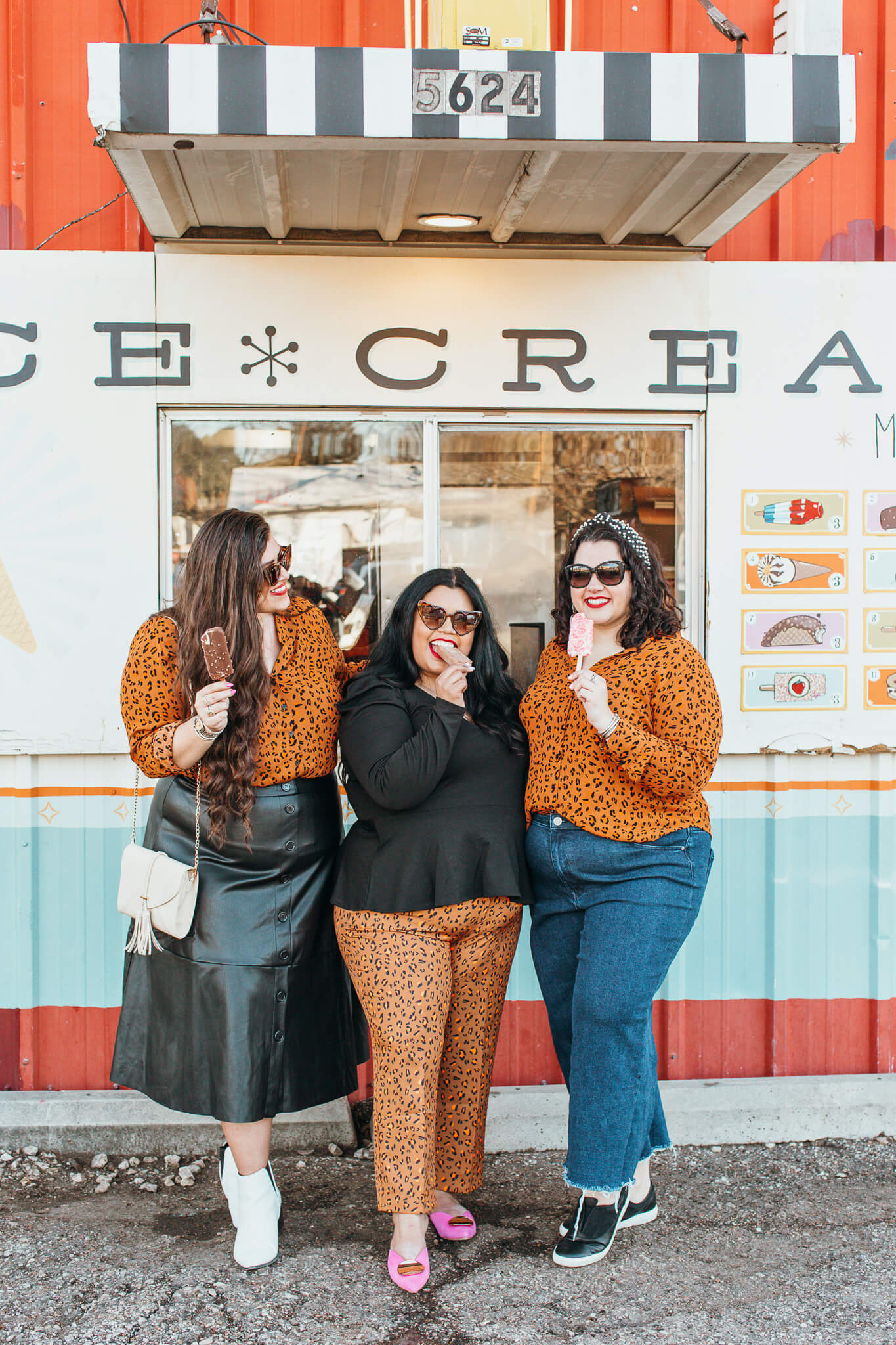 You scream, I scream, we all scream for ice cream - cheetah print plus size outfit