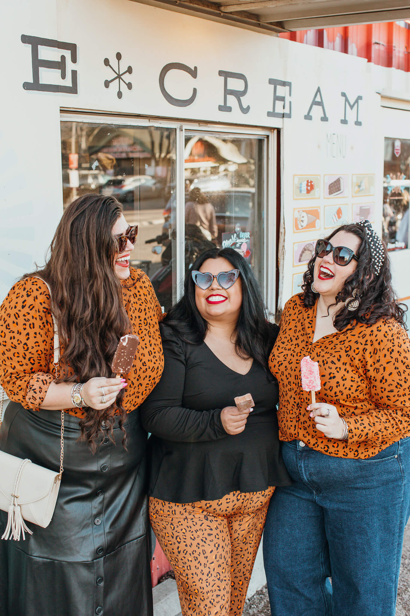 How to style a cheetah button down top