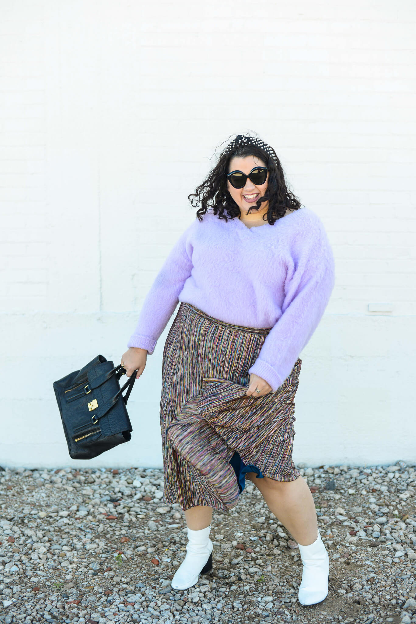 How to style a size inclusive plus size skirt