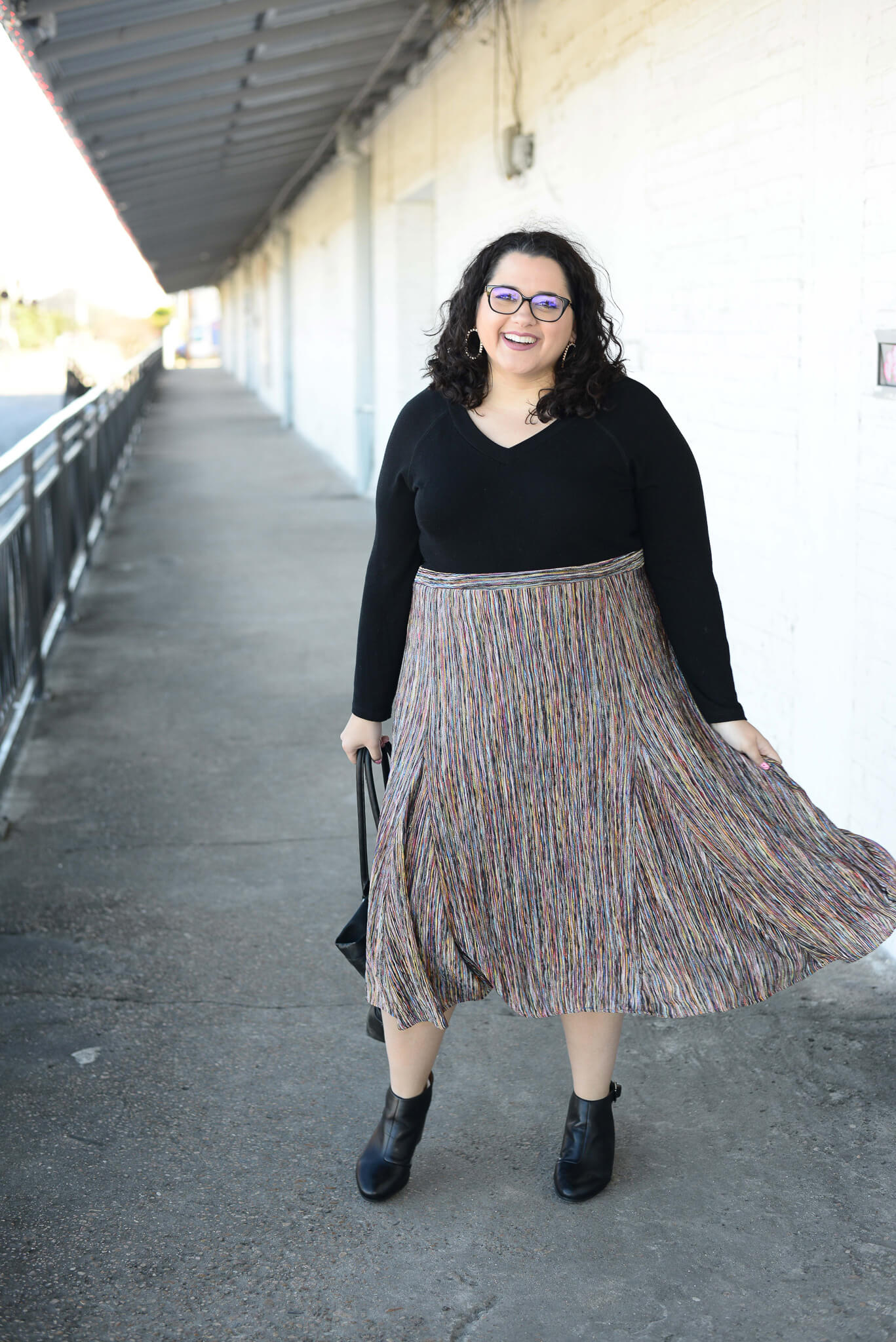 Living my best boss babe life in this plus size skirt from Anthropologie