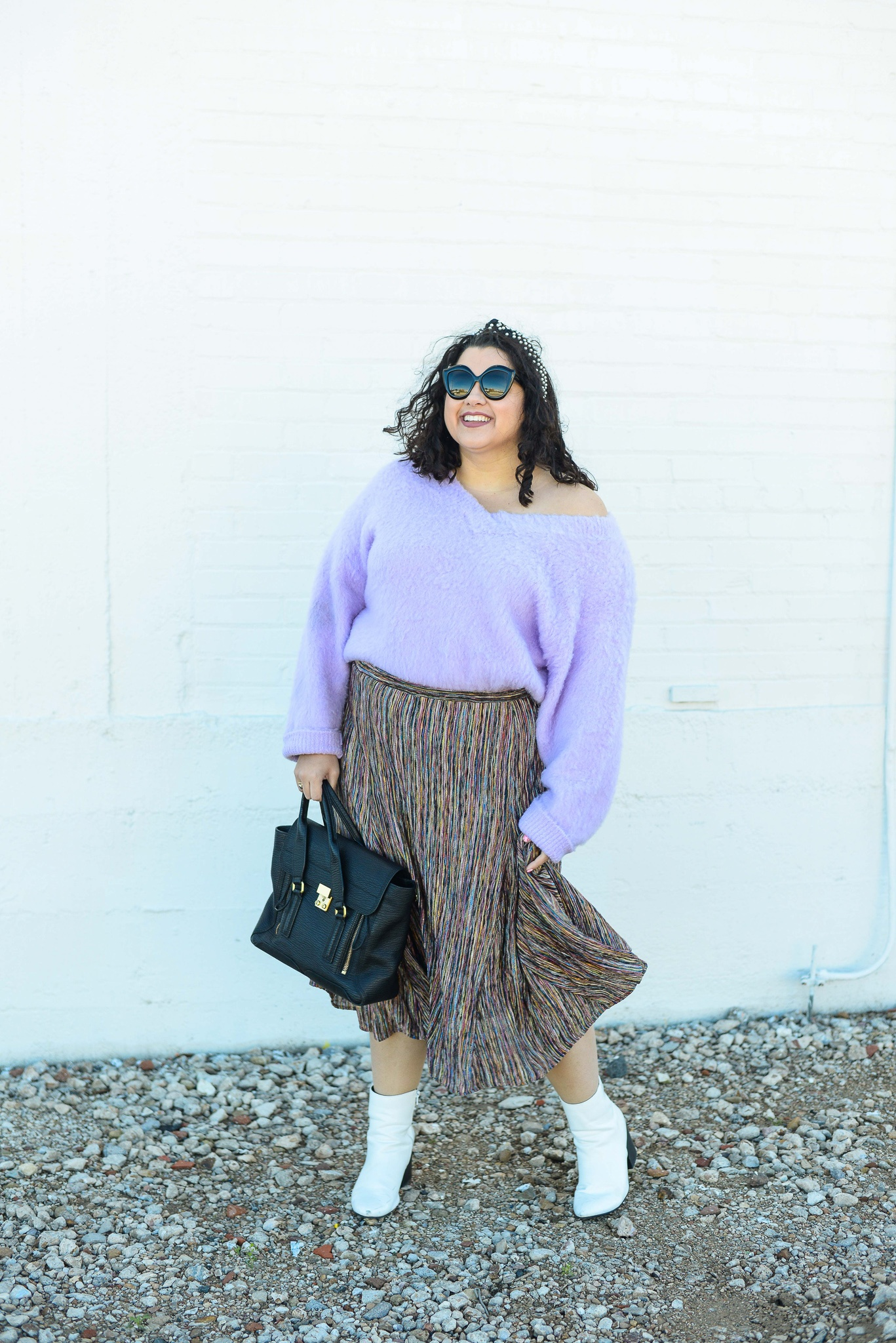 Colorful plus size skirt