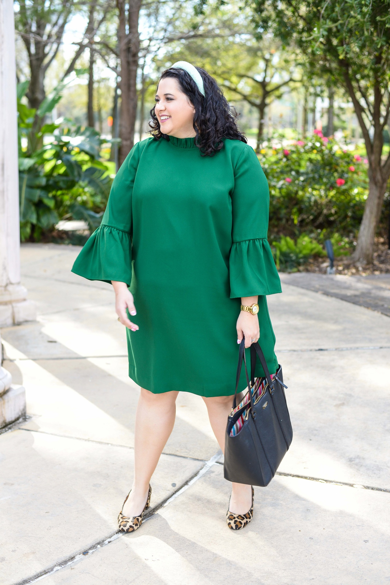 Plus size St. Patrick's Day office outfit