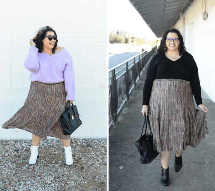 How to style a plus size skirt for work and play