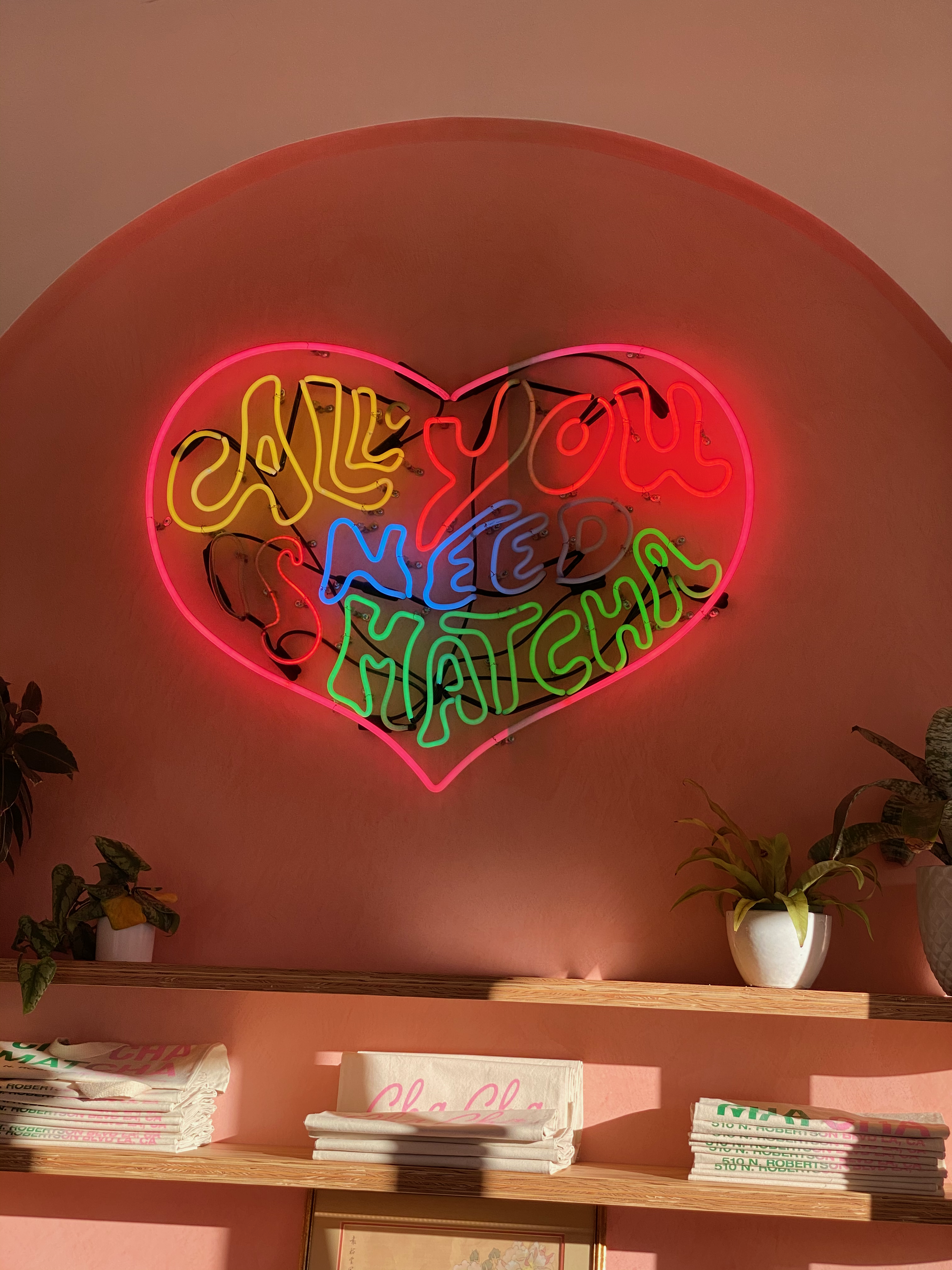 Love the Cha Cha Matcha Neon Sign in Venice, CA