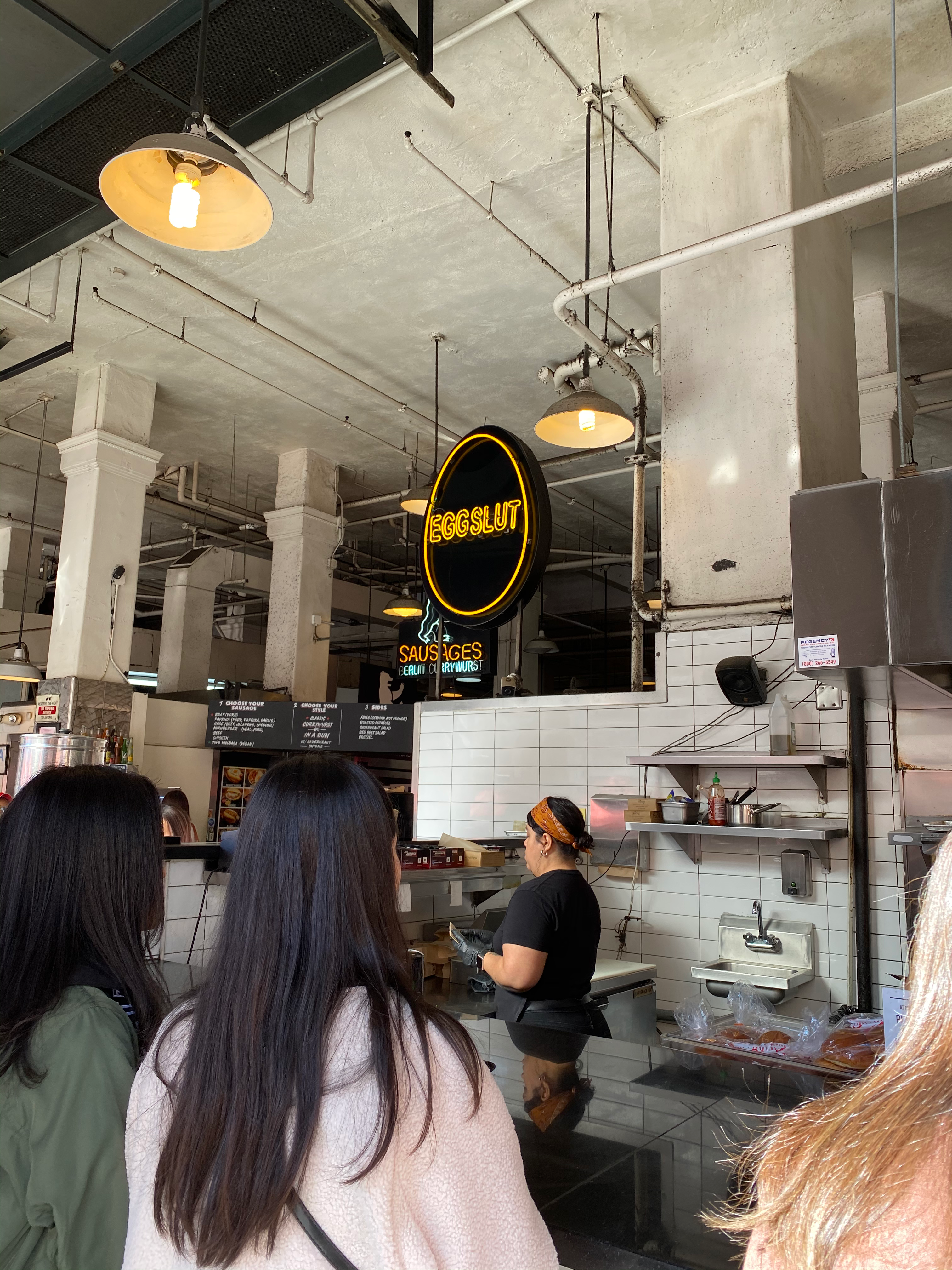 Eggslut booth at Grand Central Market in LA