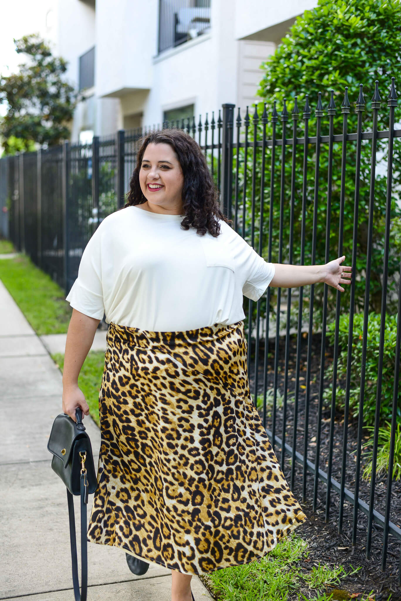 Leopard skirt from Common Assembly