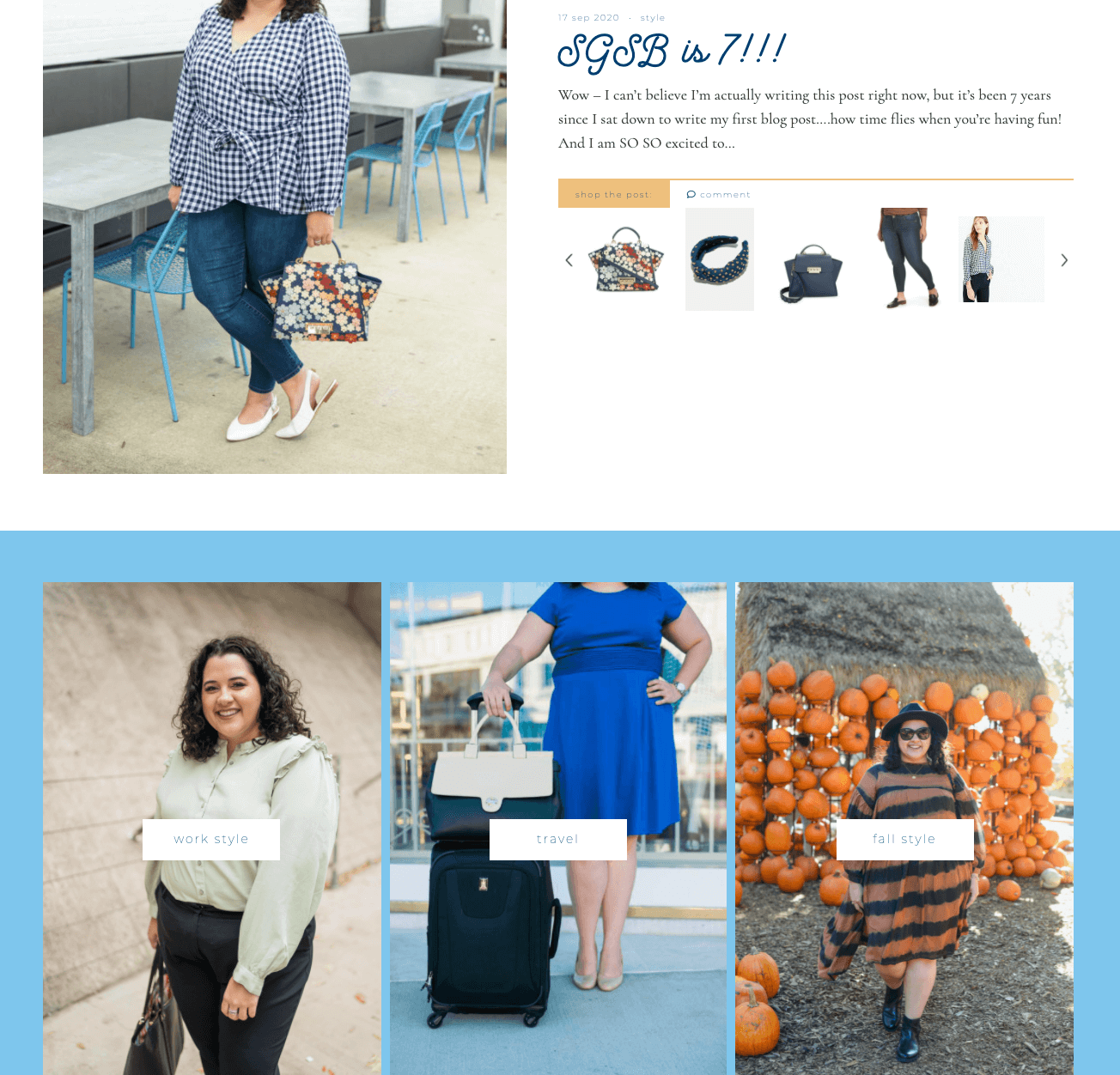 Something Gold, Something Blue the premier destination for plus size style and travel