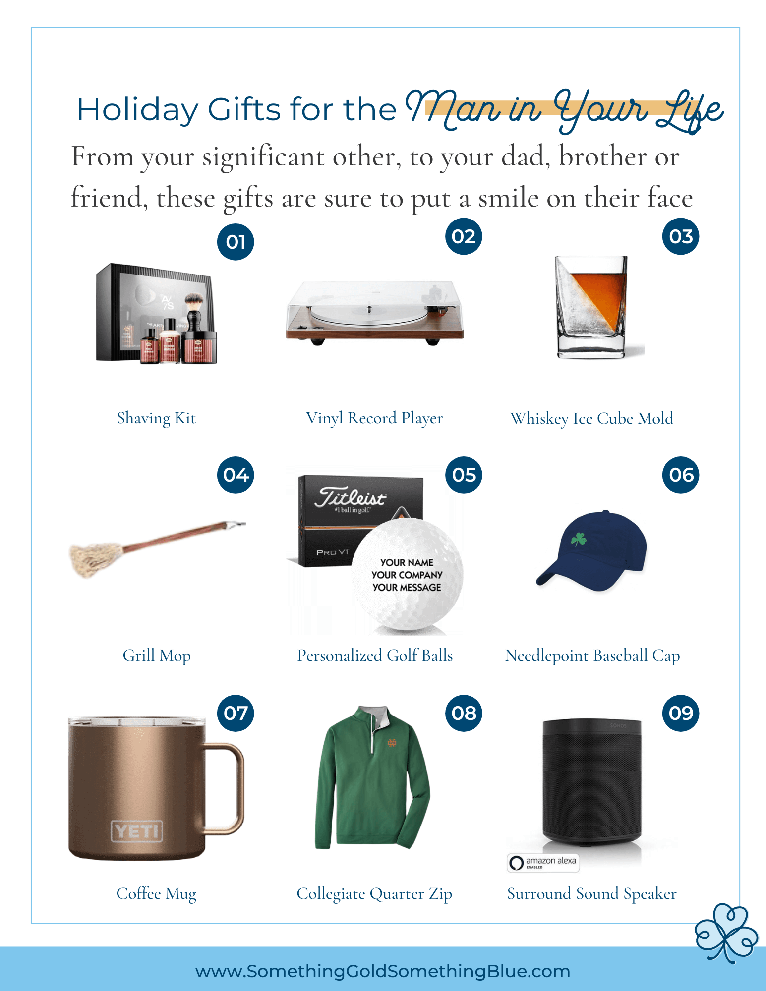 Holiday gift guide for the man in your life from your significant other to brother, dad or friend, they will love any of these items.