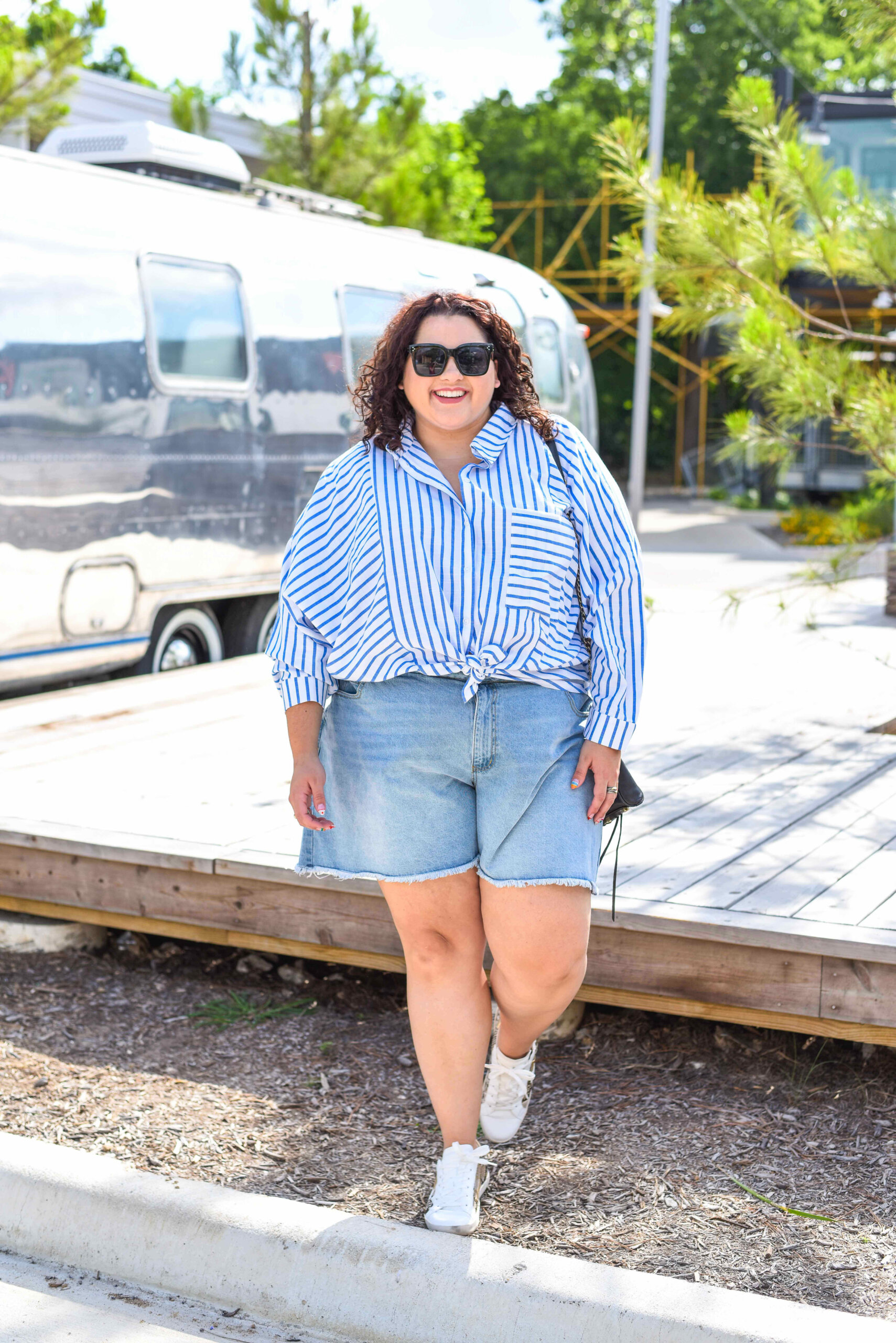 Plus size summer casual outfit