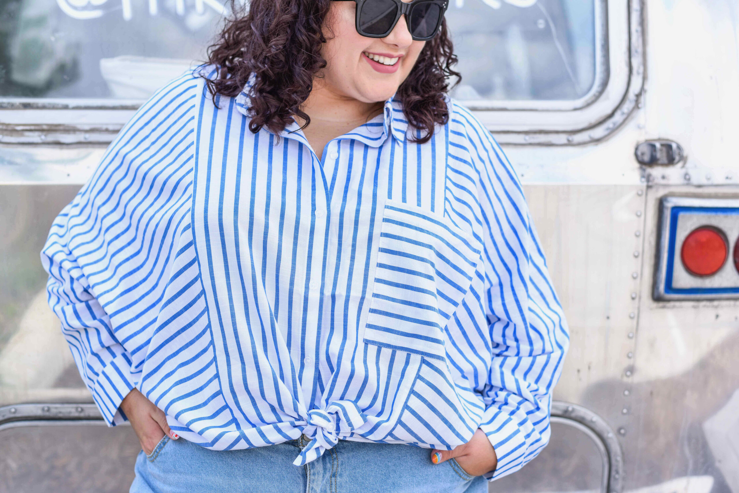 How to style striped shirt plus size